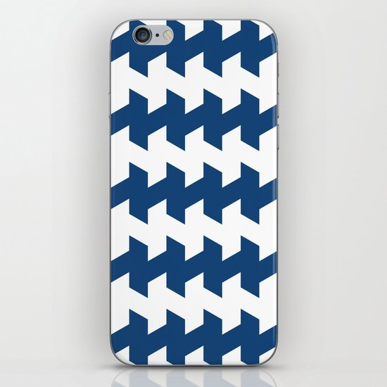 jaggered and staggered in monaco blue iPhone & iPod Skin