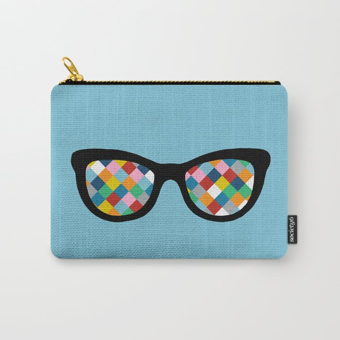 Diamond Eyes on Blue Carry-All Pouch