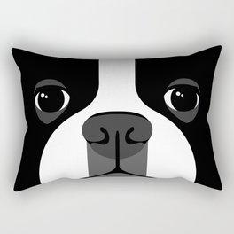 Boston Terrier Close Up Rectangular Pillow