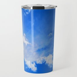 blue cloudy sky std Travel Mug