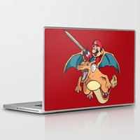 attack on titan Laptop & iPad Skins featuring Mario Attack (parody) by franz