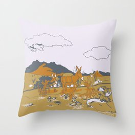 Southwest Desert Walkabout Throw Pillow