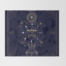 Ad Astra Per Aspera Throw Blanket
