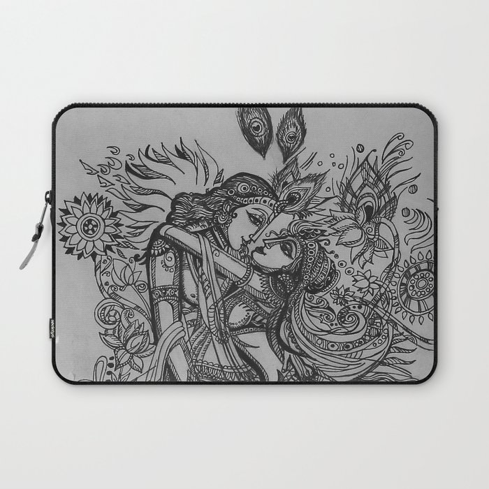 Good Luck Series: Radha-Krishna Laptop Sleeve by babitaandsagar