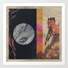 untitled with horse Art Print