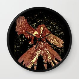 one winged angel Wall Clock