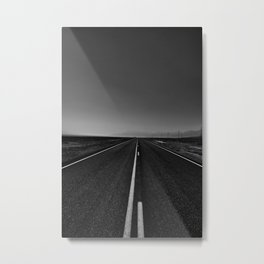 The lonely road. A journey along highway 376. Metal Print