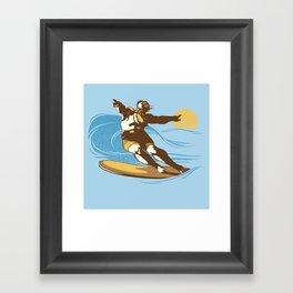 God Surfed Framed Art Print