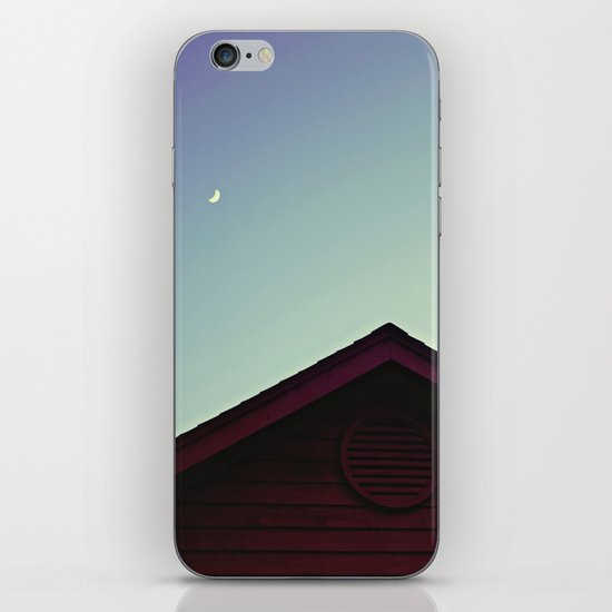 The Moon and The Red House iPhone & iPod Skin
