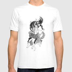 Femme Loup Tattoo White MEDIUM Mens Fitted Tee