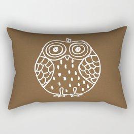 Little Owl (Brown Paper) Rectangular Pillow