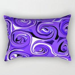 Bright Blue Violet Swirls Rectangular Pillow