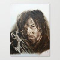 daryl dixon Canvas Prints featuring Daryl Dixon by David Nash