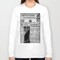duvet cover Long Sleeve T-shirts featuring THE HISTORY OF SHIP DUVET COVER by aztosaha