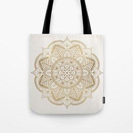Mandala Beige Creamy Pattern 1 Tote Bag