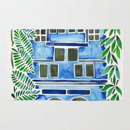Tropical Blue House Rug