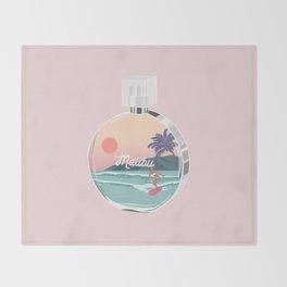 Chance Malibu, perfume bottle art illustration Throw Blanket