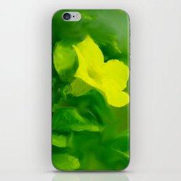 Yellow Mandevilla Flower iPhone Skin