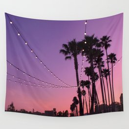 Lit Sunset Wall Tapestry