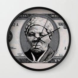 Harriet Tubman Twenty Dollar Bill Wall Clock