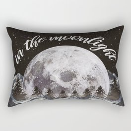 in the moonlight Rectangular Pillow