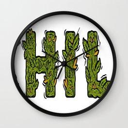 Chill Leaf Wall Clock