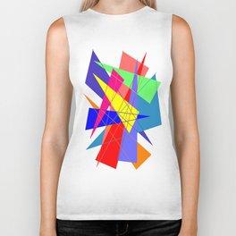 Colour triangles Biker Tank