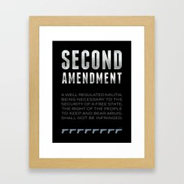 Second Amendment Framed Art Print