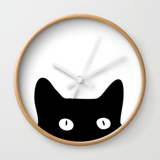 Black Wall Clocks black cat wall clockgood sense | society6