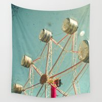 ferris wheel Wall Tapestries featuring Ferris Wheel by Cassia Beck