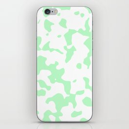 Large Spots - White and Light Green iPhone Skin