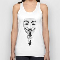 vendetta Tank Tops featuring vendetta by davidmichel