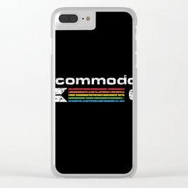 commodore 64 retro computer Clear iPhone Case