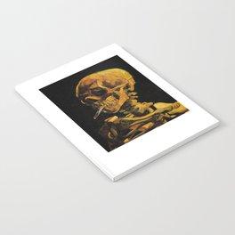 Van Gogh, Skull of a Skeleton with Burning Cigarette  – Van Gogh,Vincent Van Gogh,impressionist,post Notebook