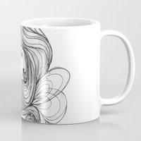 gray Mugs featuring Gray by Virginia Skinner
