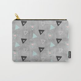 60s -Black abstract triangle pattern on concrete -Mix&Match with Simplicty of life Carry-All Pouch