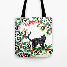 Christmas Cat Tote Bag