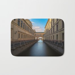 Winter Canal Saint Petersburg Bath Mat