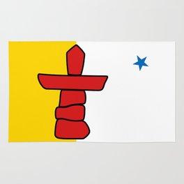 Flag of Nunavut - High quality authentic version Rug