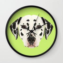 Dalmatian // Green Wall Clock