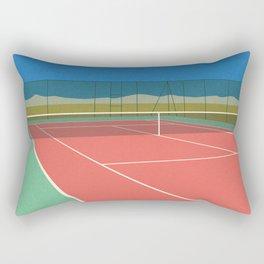 Tennis Court In The Desert Rectangular Pillow