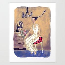 Hot Lady Art Print