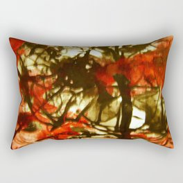 Red Abstract Rectangular Pillow