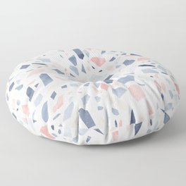 Terrazzo vintage pastel blue pink Floor Pillow