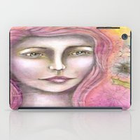 olivia joy iPad Cases featuring Olivia by Art by Sandy & Mariah Gonyea