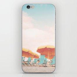 Beach Chairs and Umbrellas iPhone Skin