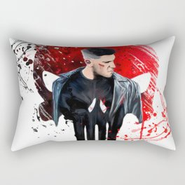 Punisher splatter art Rectangular Pillow