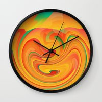 desert Wall Clocks featuring Desert by Casey