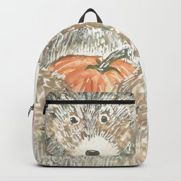 A bear bearing a pumpkin Backpack