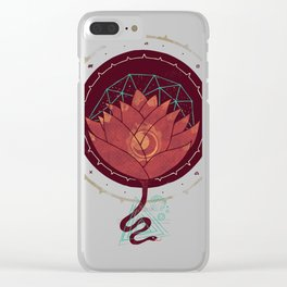 Red Lotus Clear iPhone Case